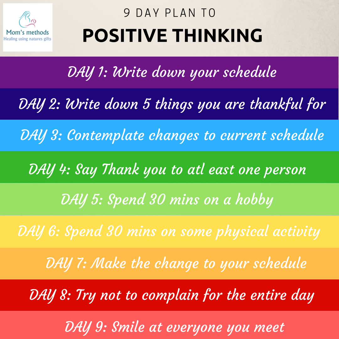 9 day plan to positive thinking